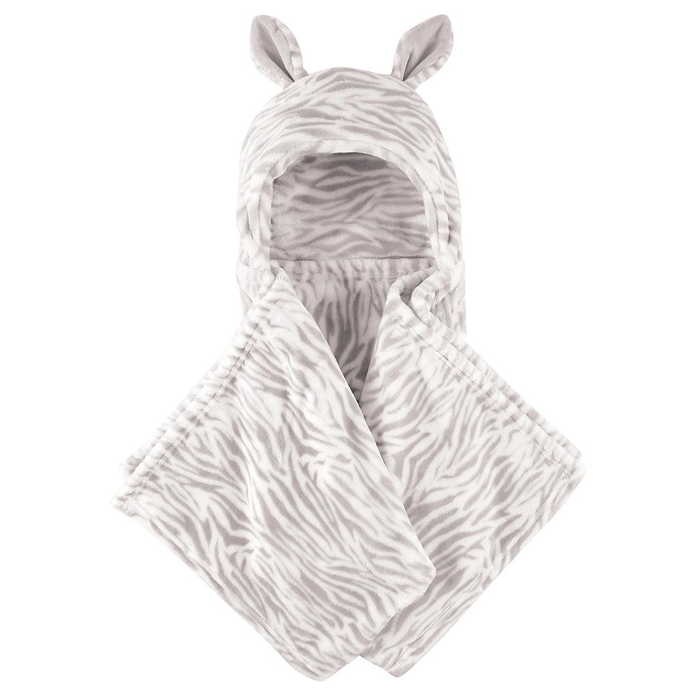 Zebra Hudson Baby Plush Hooded Blanket Image #1