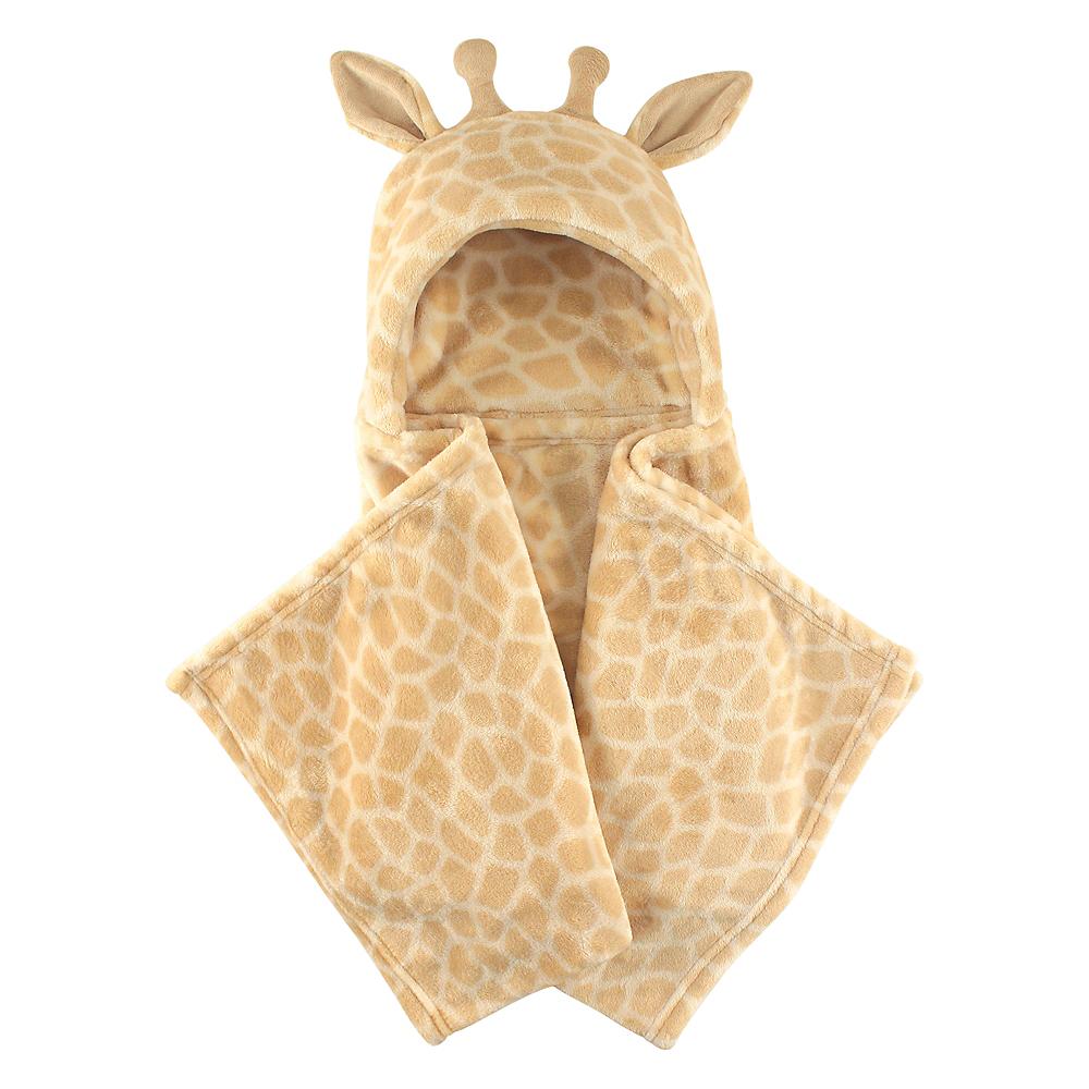 Giraffe Hudson Baby Plush Hooded Blanket Image #1