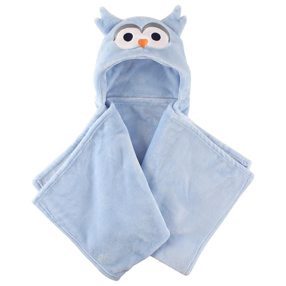 Blue Owl Hudson Baby Plush Hooded Blanket Image #1