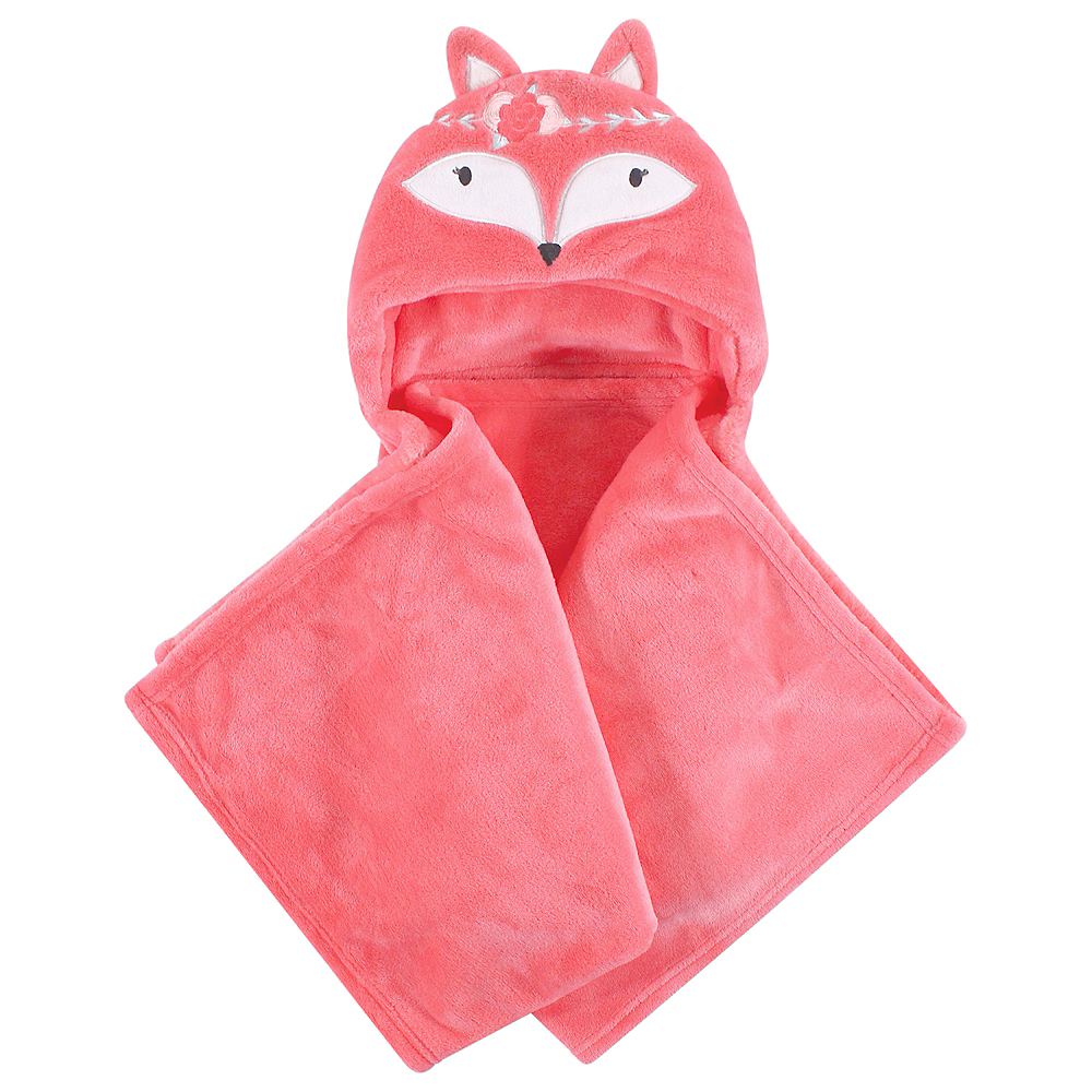 Boho Fox Hudson Baby Plush Hooded Blanket Image #1