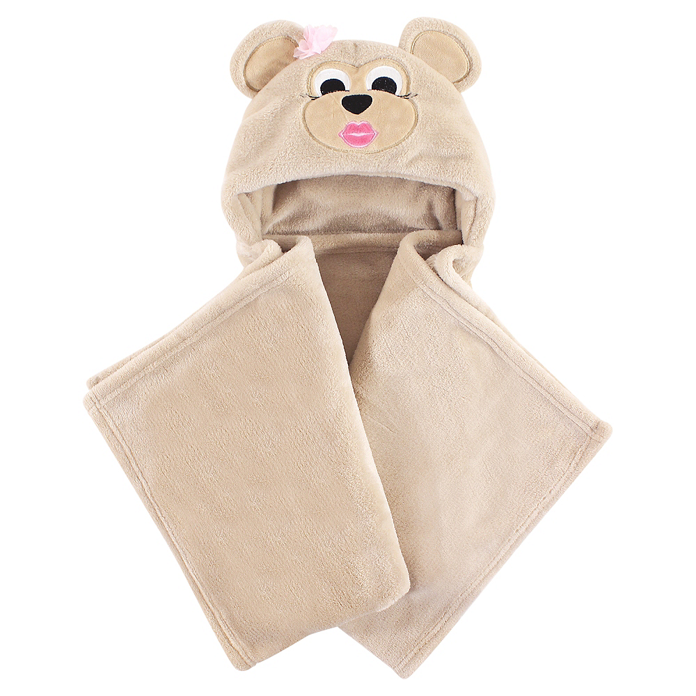 Miss Monkey Hudson Baby Plush Hooded Blanket Image #1