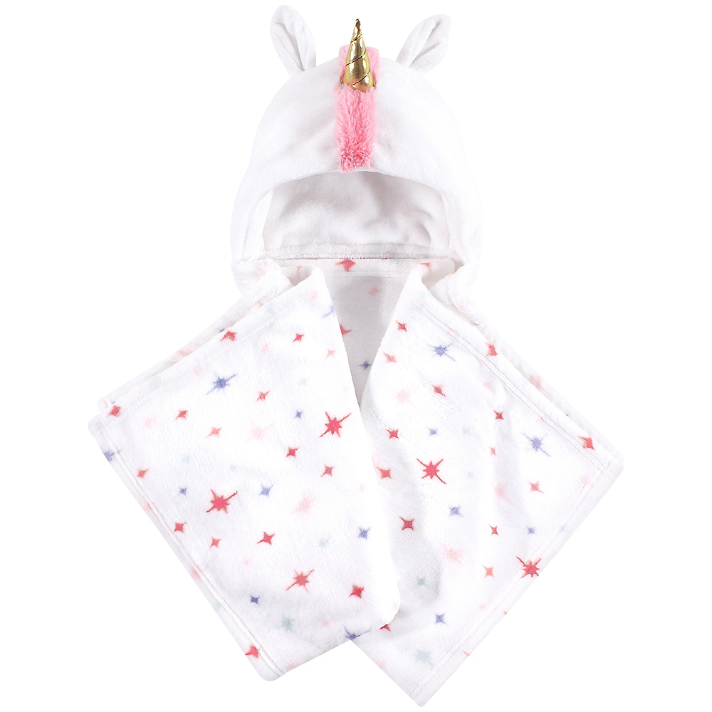 Starburst Unicorn Hudson Baby Plush Hooded Blanket Image #1