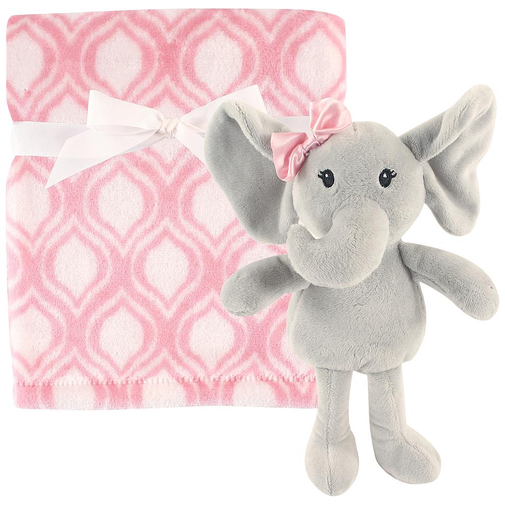 Elephant Hudson Baby Plush Blanket and Toy, 2-Piece Set Image #1