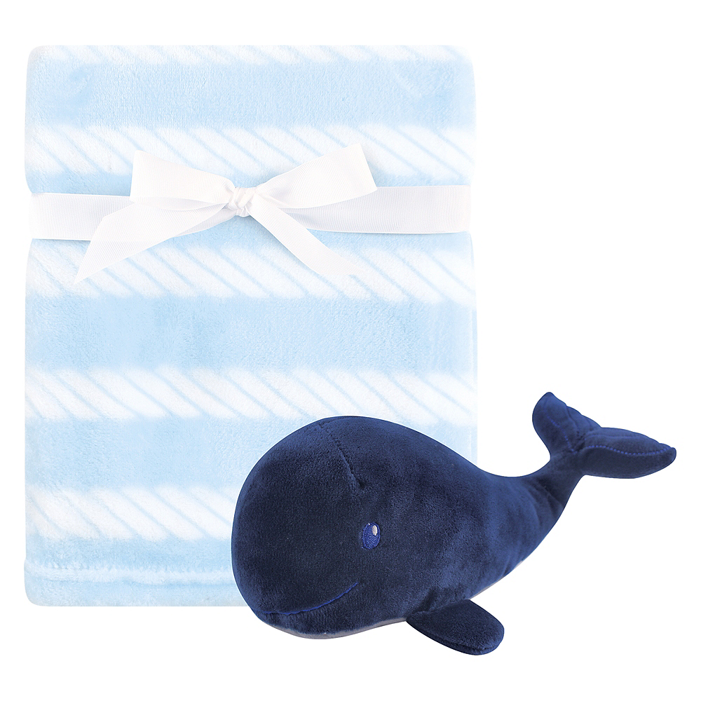Blue Whale Hudson Baby Plush Blanket and Toy, 2-Piece Set Image #1
