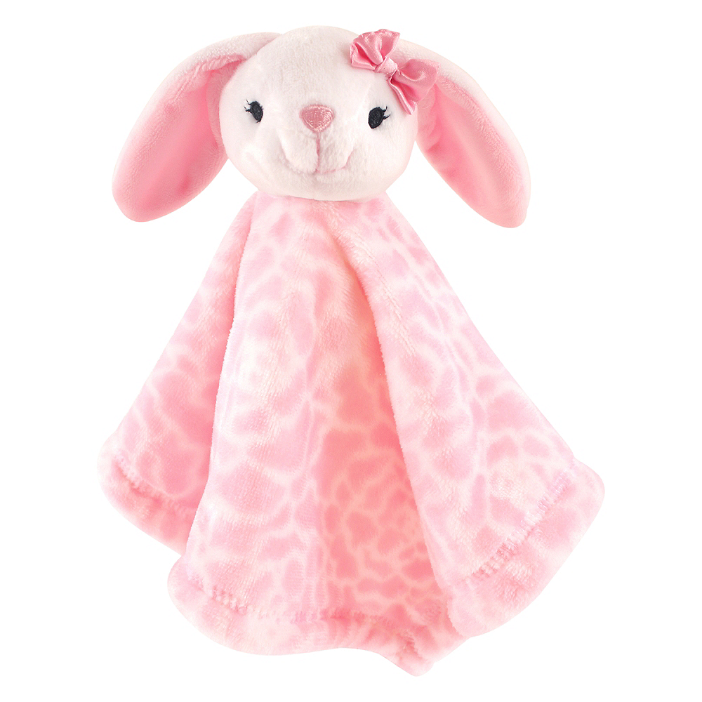 Bunny Hudson Baby Animal Friend Plushy Security Blanket Image #1