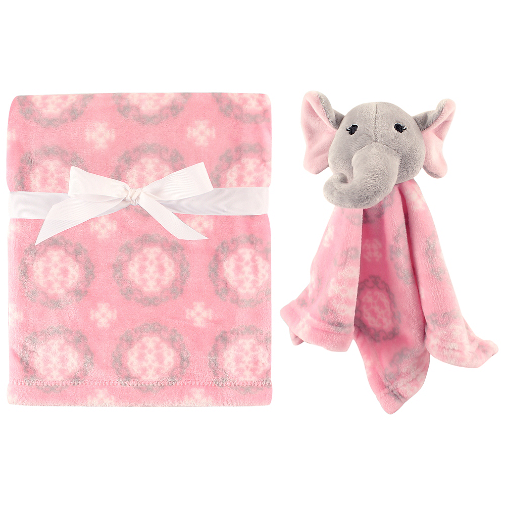Elephant Hudson Baby Plush Blanket and Security Blanket Image #1