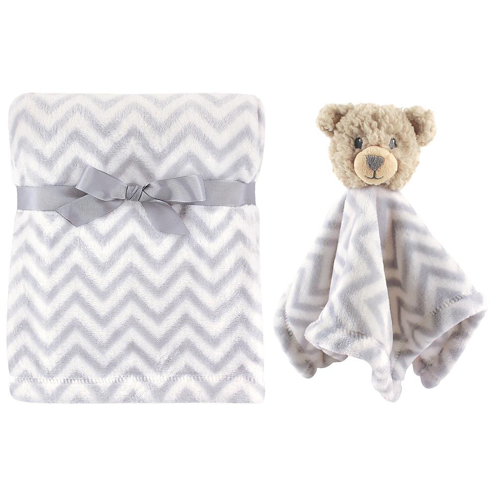 Gray Bear Hudson Baby Plush Blanket and Security Blanket Image #1