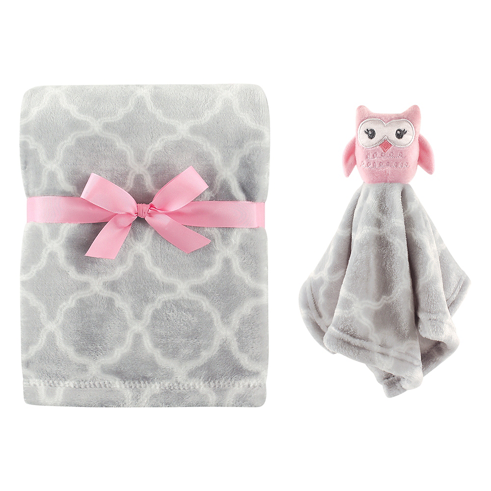 Owl Hudson Baby Plush Blanket and Security Blanket Image #1