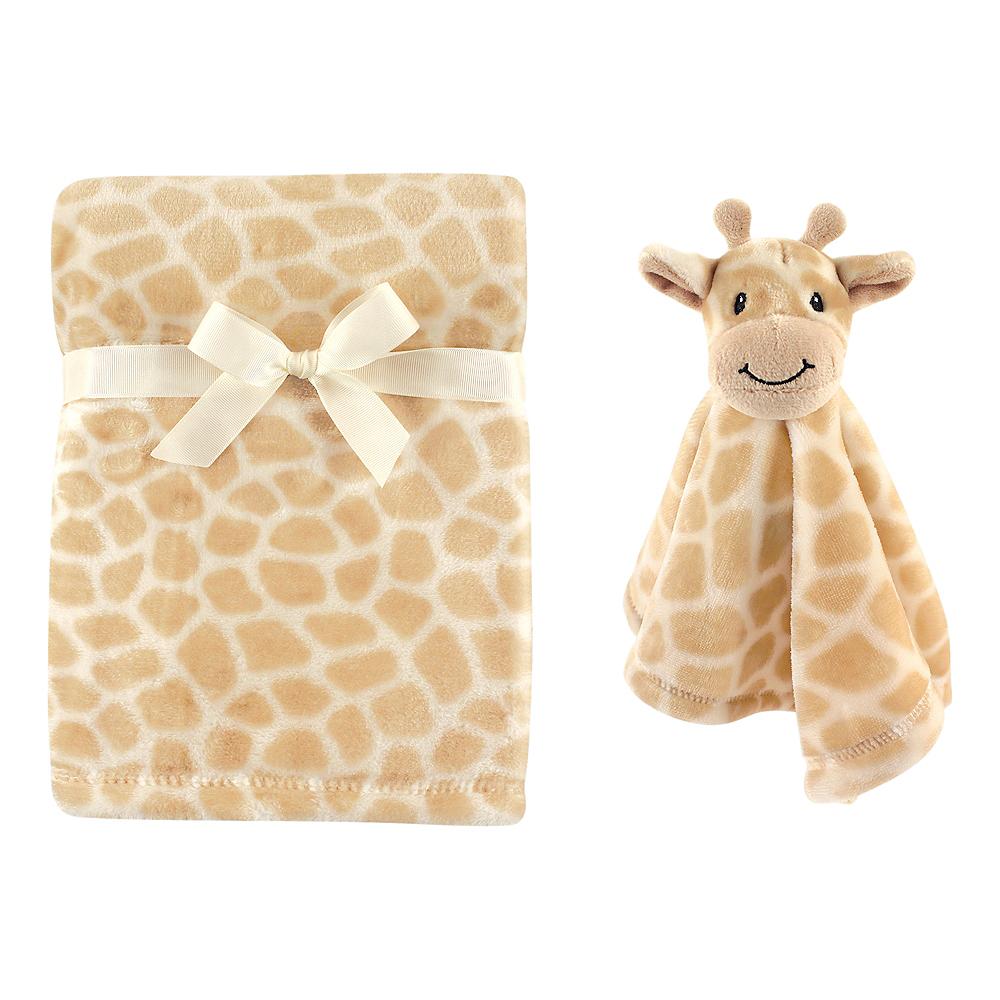Giraffe Hudson Baby Plush Blanket and Security Blanket Image #1