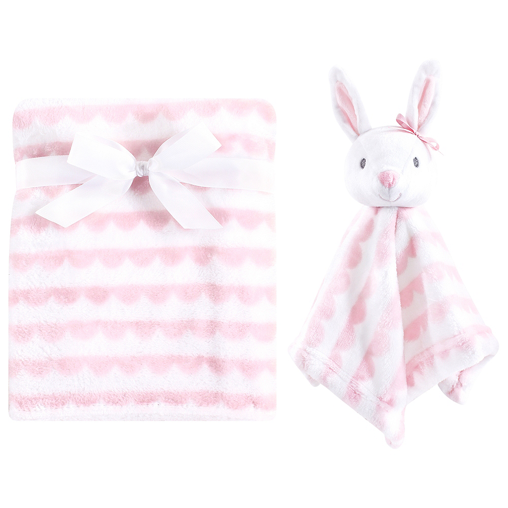 Pink Hudson Baby Plush Blanket and Security Blanket Image #1