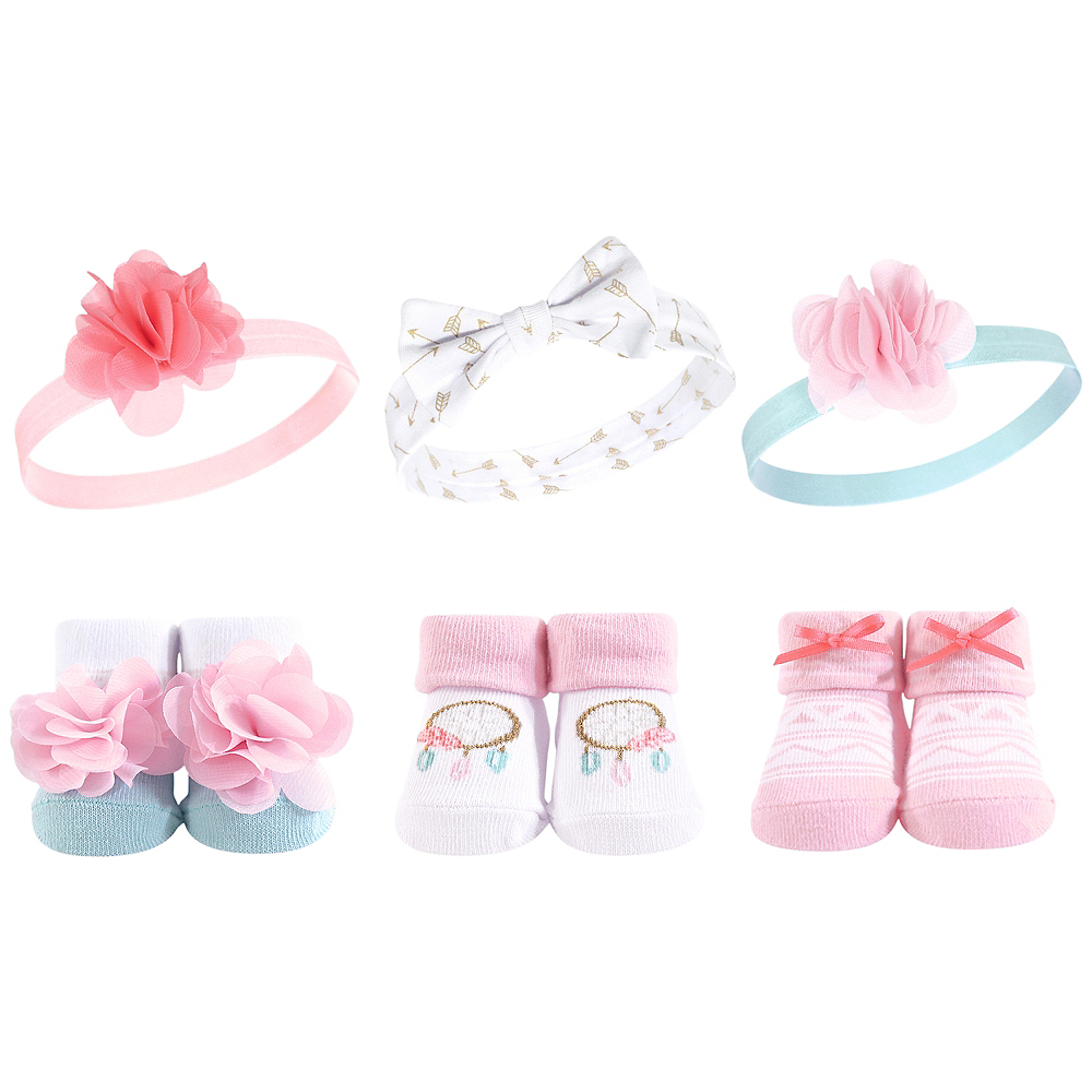 Dream Catcher Hudson Baby Headbands and Socks Set, 6-Piece Image #1