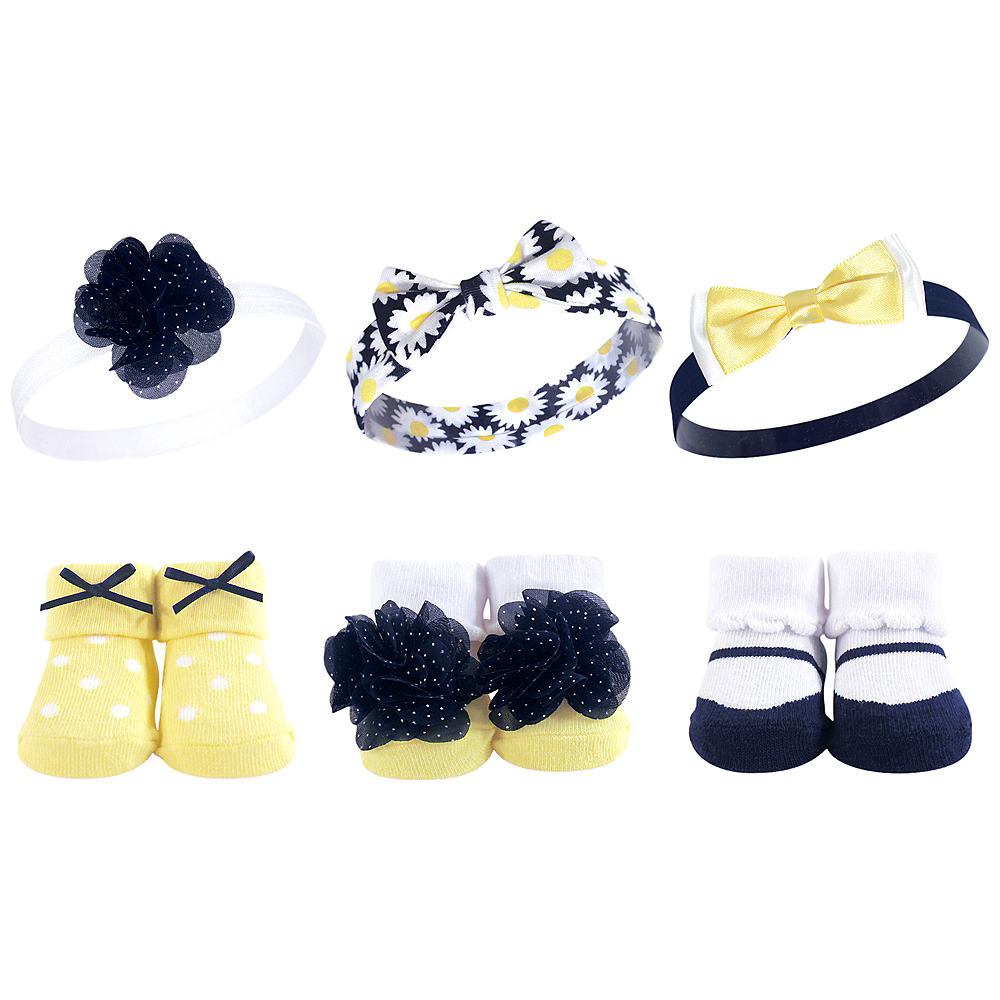 Daisy Hudson Baby Headbands and Socks Set, 6-Piece Image #1