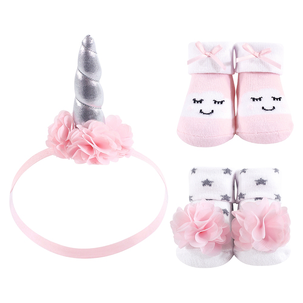 Cloud Hudson Baby Headband and Socks Set, 3 Piece Image #1