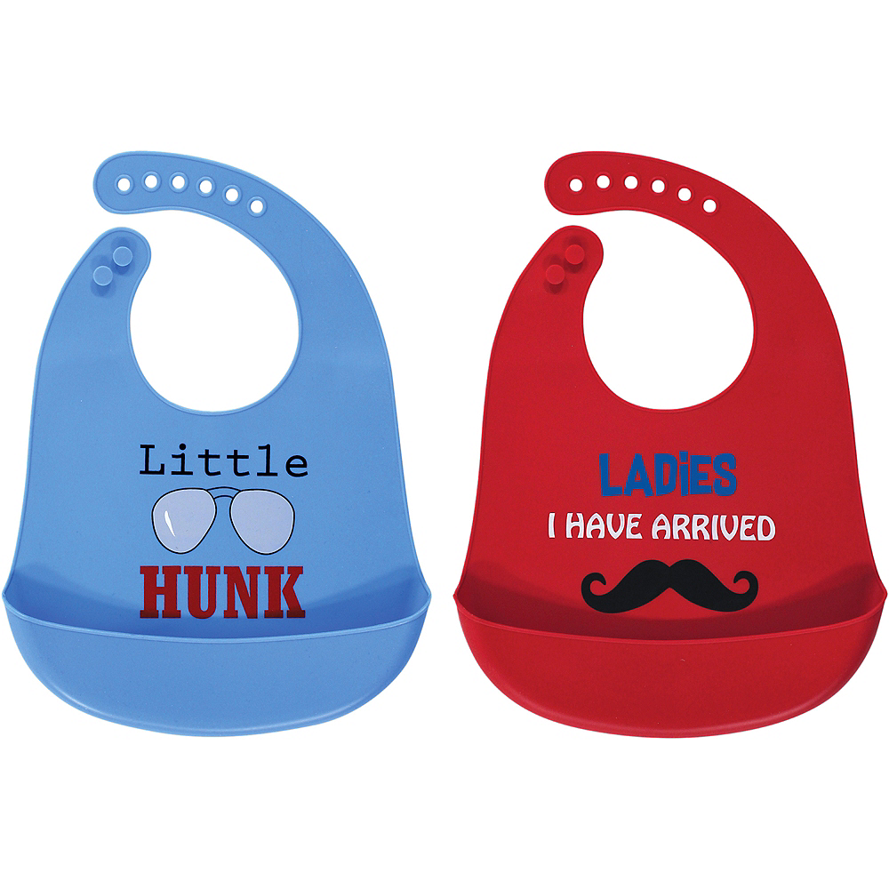 Ladies, I Have Arrived Luvable Friends Waterproof, Silicone Bib with Pocket, 2 Pack Image #1