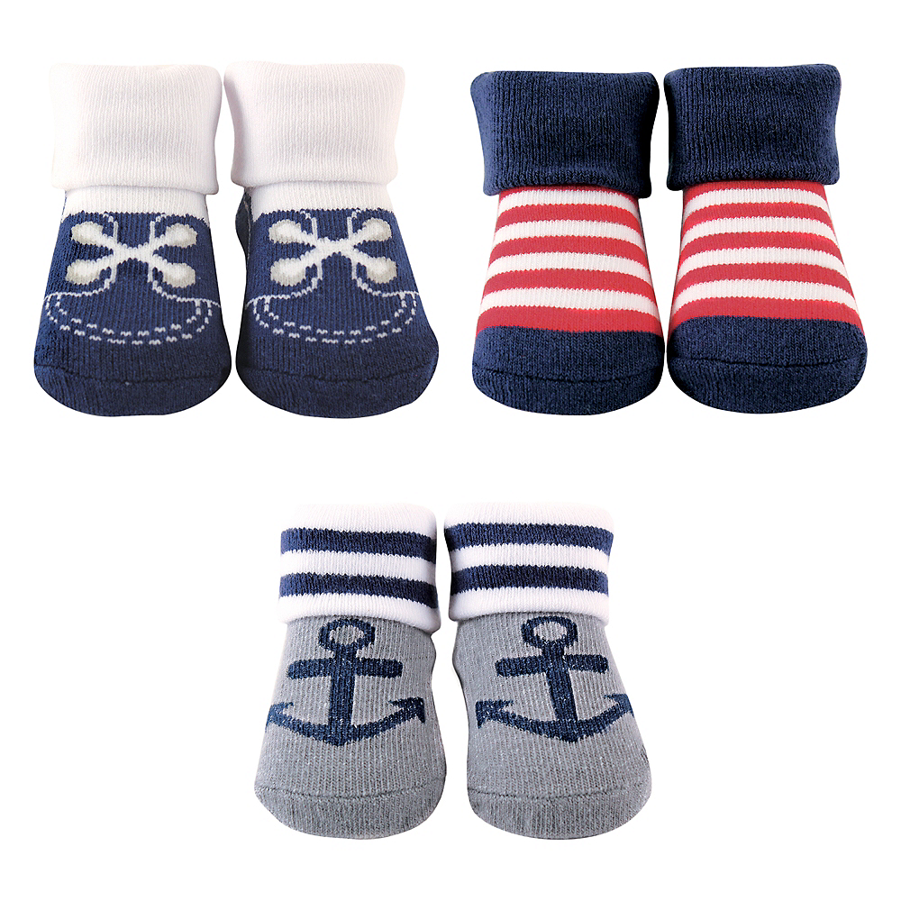 Nautical Luvable Friends Socks Gift Set, 3-Pack, 0-9 months Image #1
