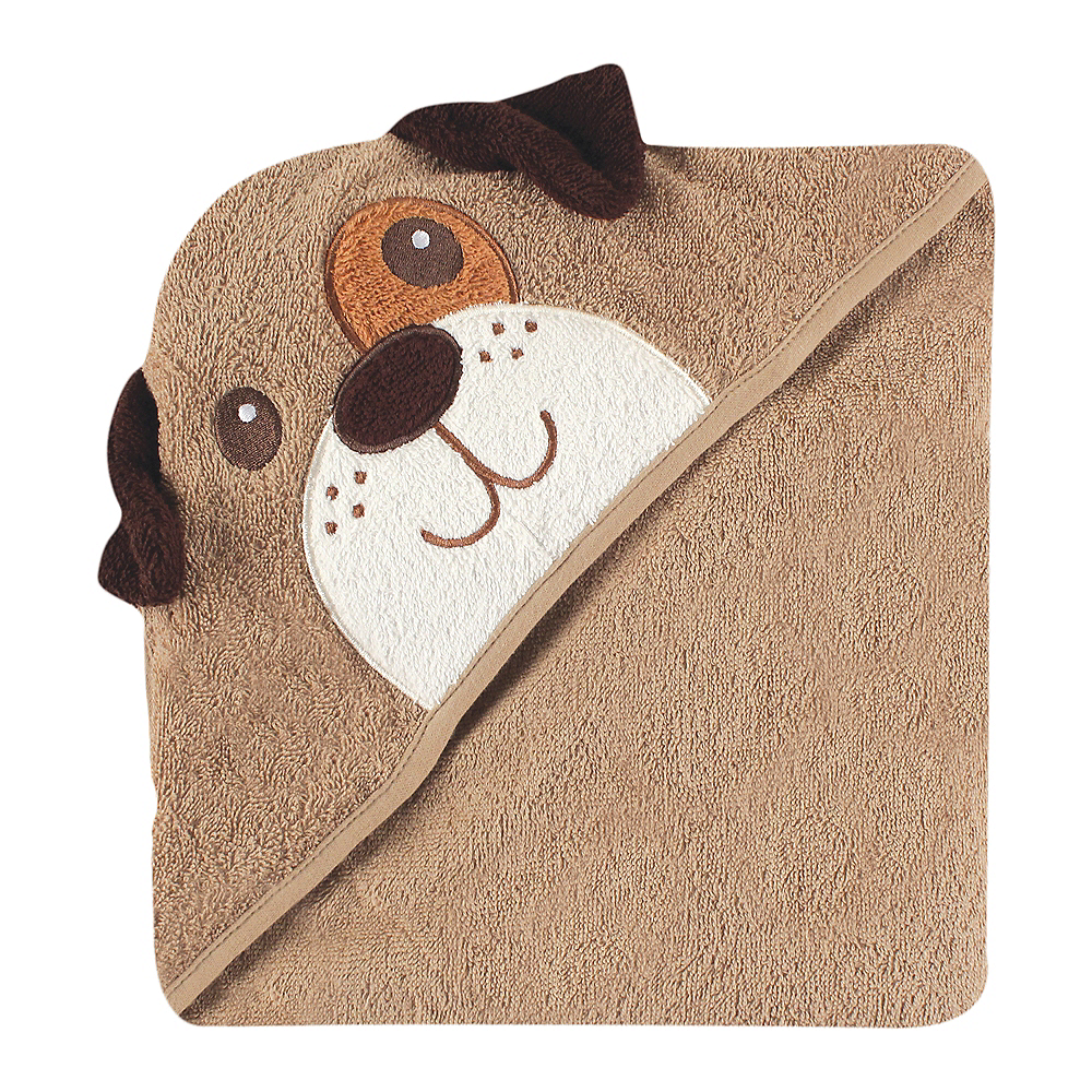 Brown Dog Luvable Friends Animal Face Hooded Towel Image #1