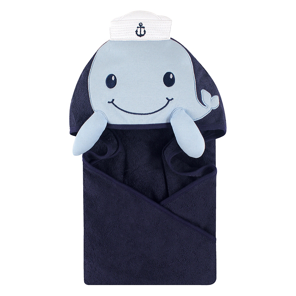 Sailor Whale Little Treasure Animal Face Hooded Towel Image #1