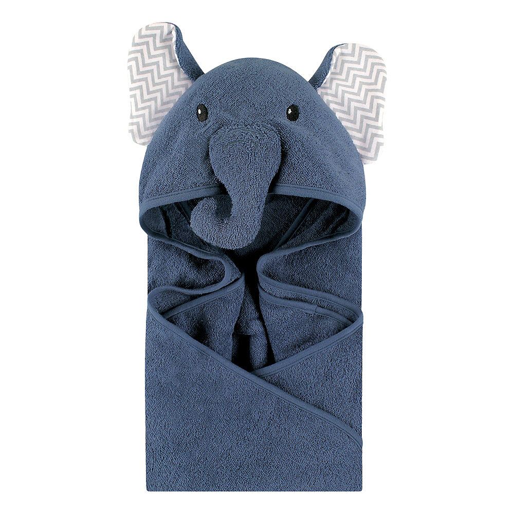 Chevron Elephant Little Treasure Animal Face Hooded Towel Image #1