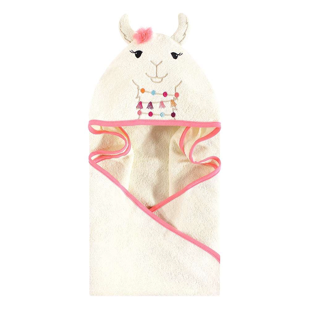 Llama Little Treasure Animal Face Hooded Towel Image #1