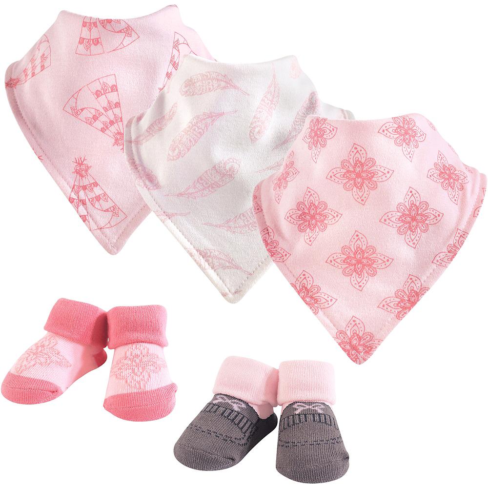 Teepee Yoga Sprout Bandana Bibs & Socks, 5-Piece Set Image #1