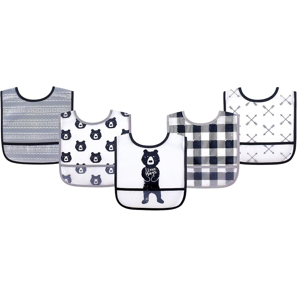 Bear Hugs Yoga Sprout Unisex Baby Waterproof Bibs, 5-Pack Image #1