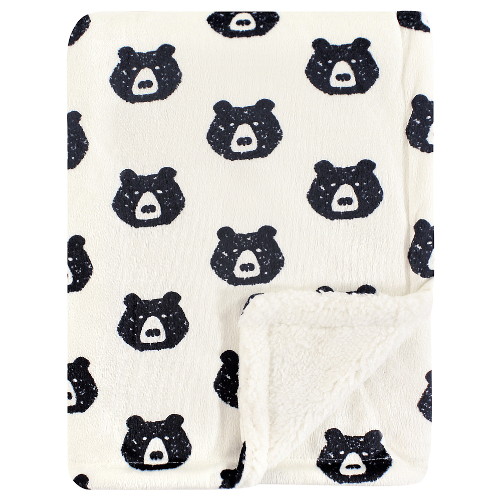 Bear Yoga Sprout Mink Blanket with Sherpa Backing Image #1