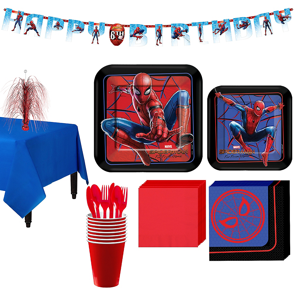 Spider-Man: Far From Home Tableware Kit for 8 Guests Image #1