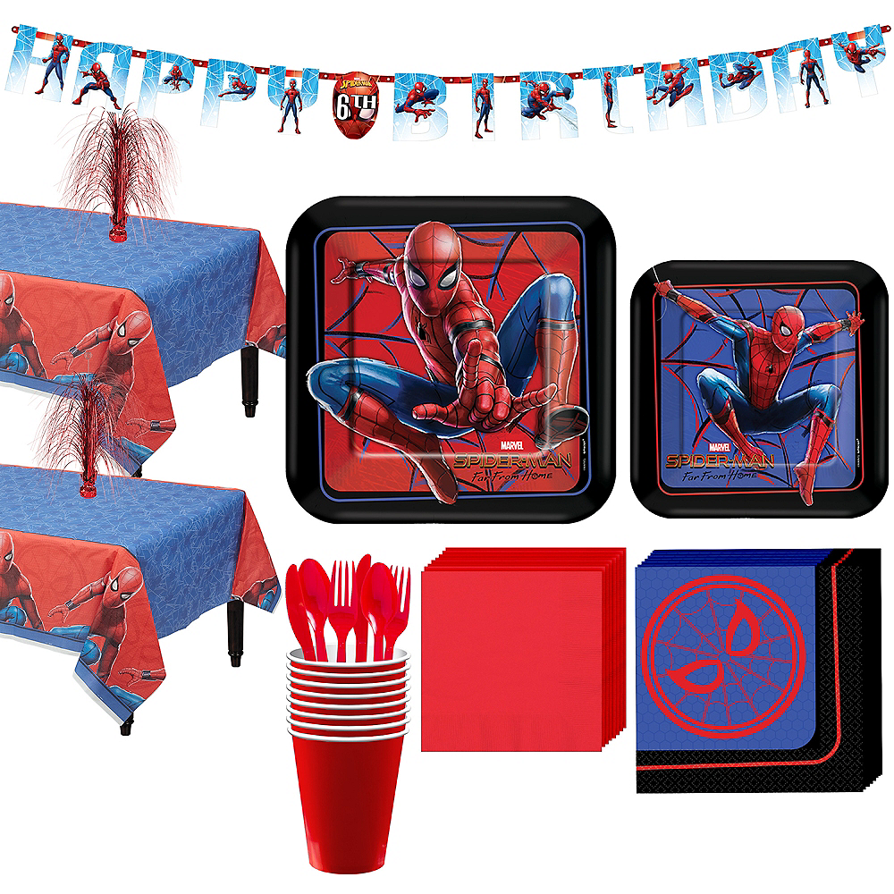 Spider-Man: Far From Home Tableware Kit for 16 Guests Image #1