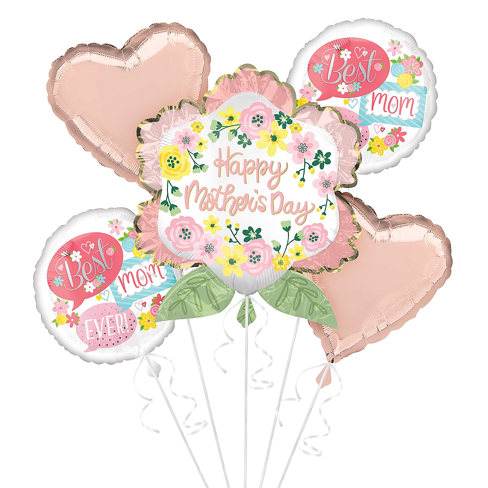 Nav Item for Flowers & Hearts Mother's Day Balloon Kit Image #1