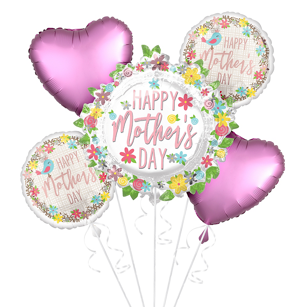 Colorful Flowers & Hearts Mother's Day Balloon Kit Image #1