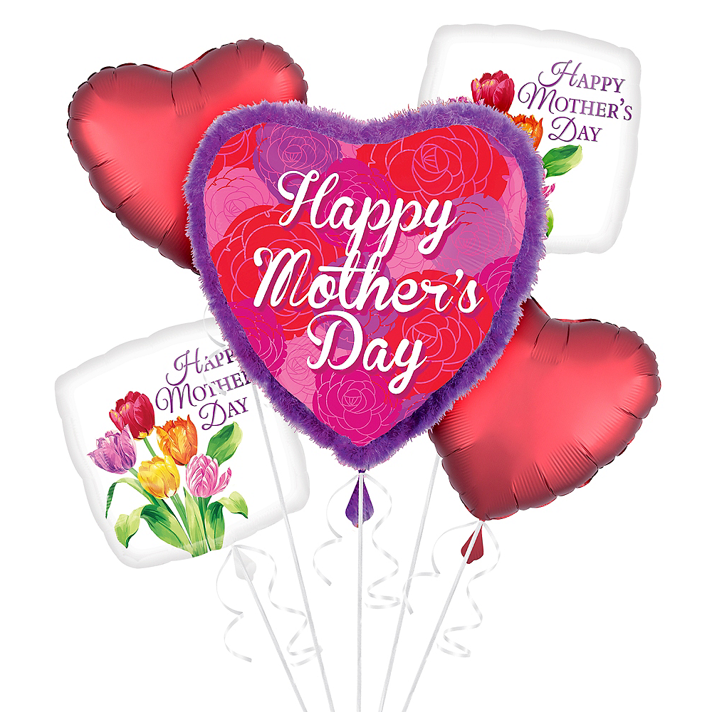 Tulips & Hearts Mother's Day Balloon Kit Image #1