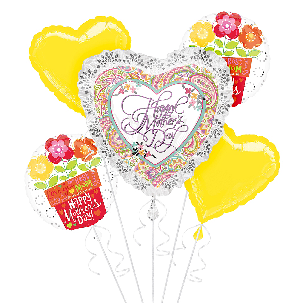 Bright Flowers & Hearts Mother's Day Balloon Kit Image #1