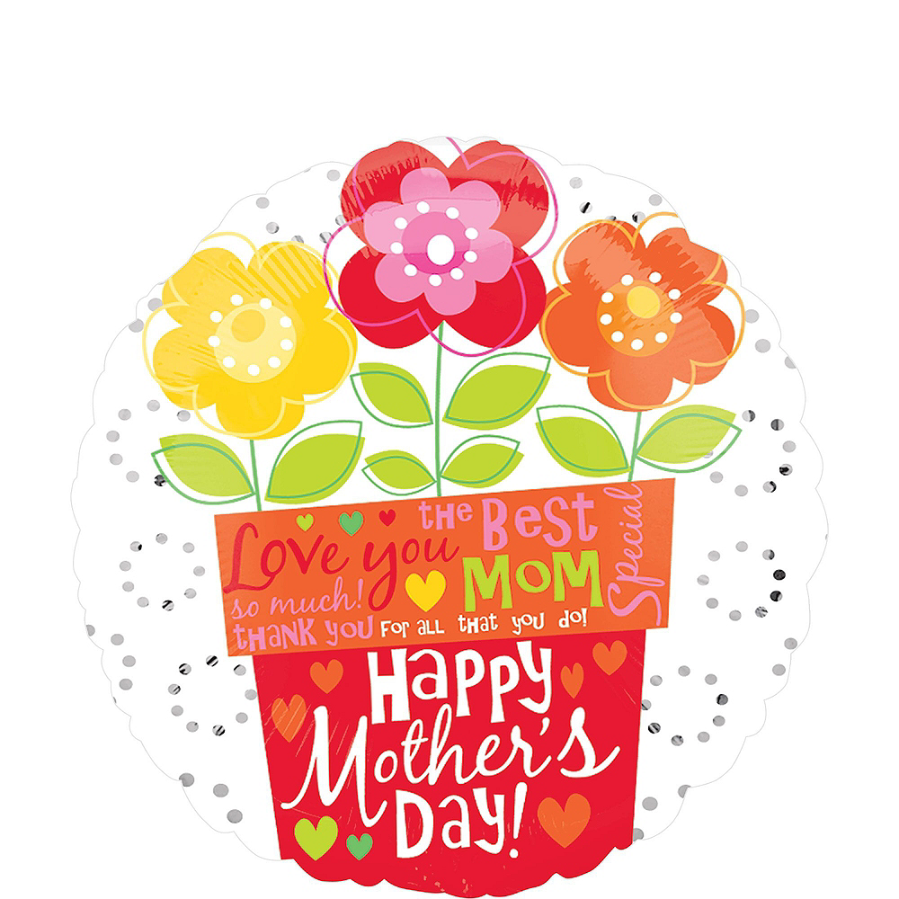 Bright Flowers & Hearts Mother's Day Balloon Kit Image #2
