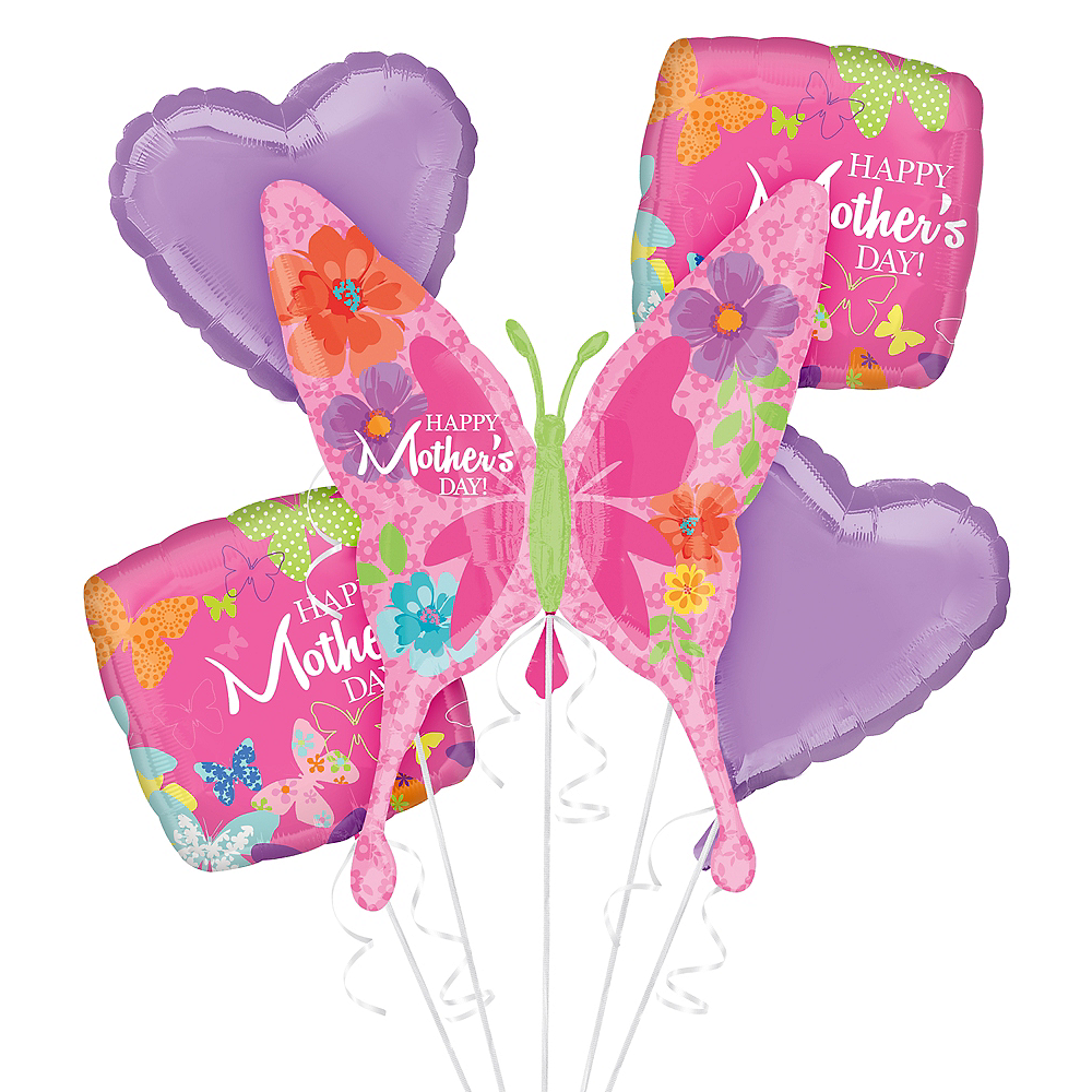 Butterflies & Hearts Mother's Day Balloon Kit Image #1