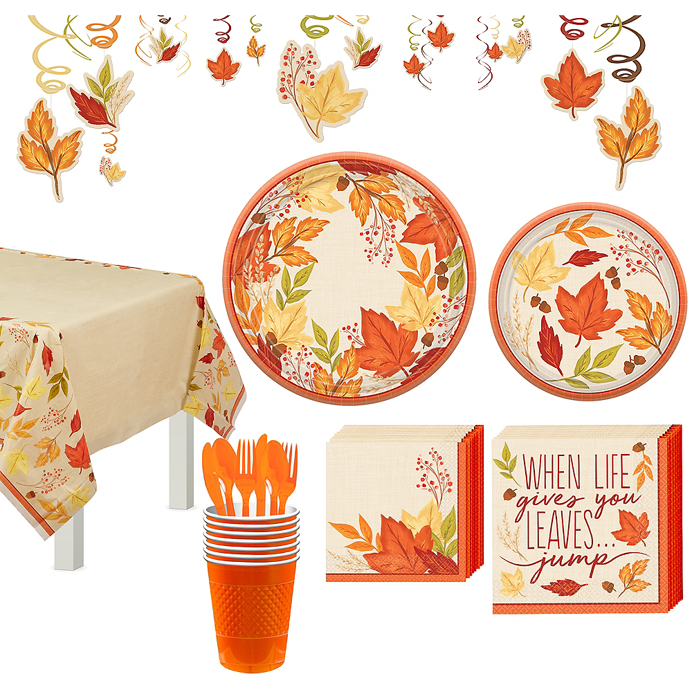 Fall Foliage Tableware Kit for 16 Guests Image #1