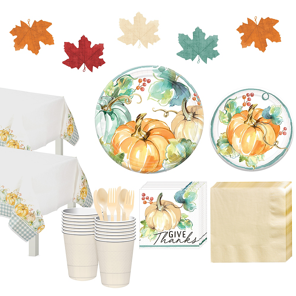 Nav Item for Painted Fall Tableware Kit for 32 Guests Image #1
