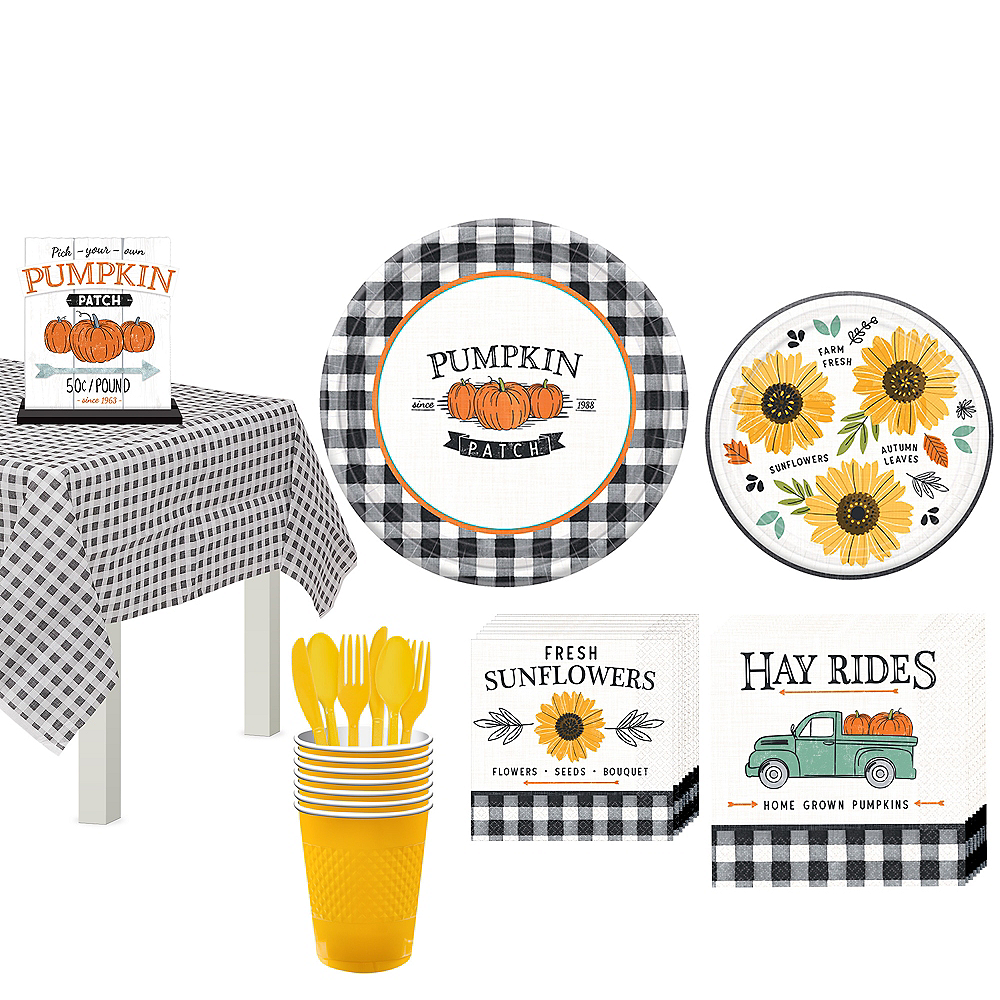 Fall Harvest Tableware Kit for 16 Guests Image #1