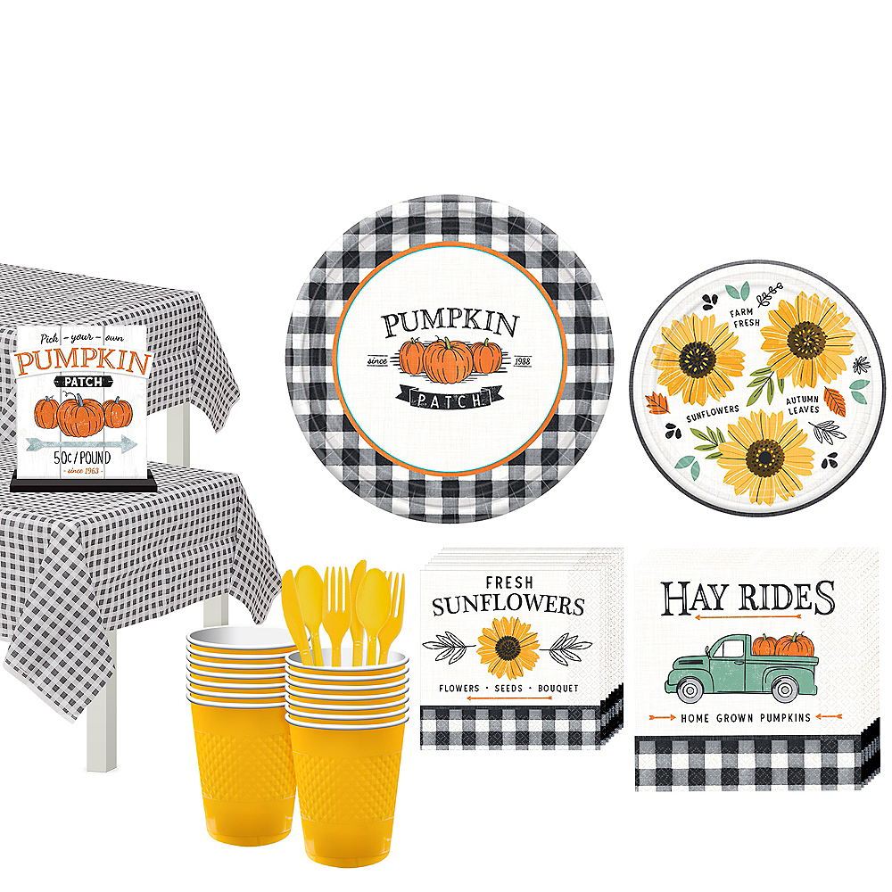 Fall Harvest Tableware Kit for 32 Guests Image #1