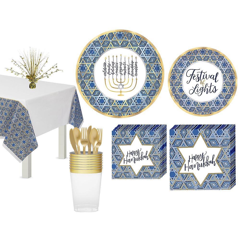 Festival Of Lights Hanukkah Tableware Kit for 18 Guests Image #1