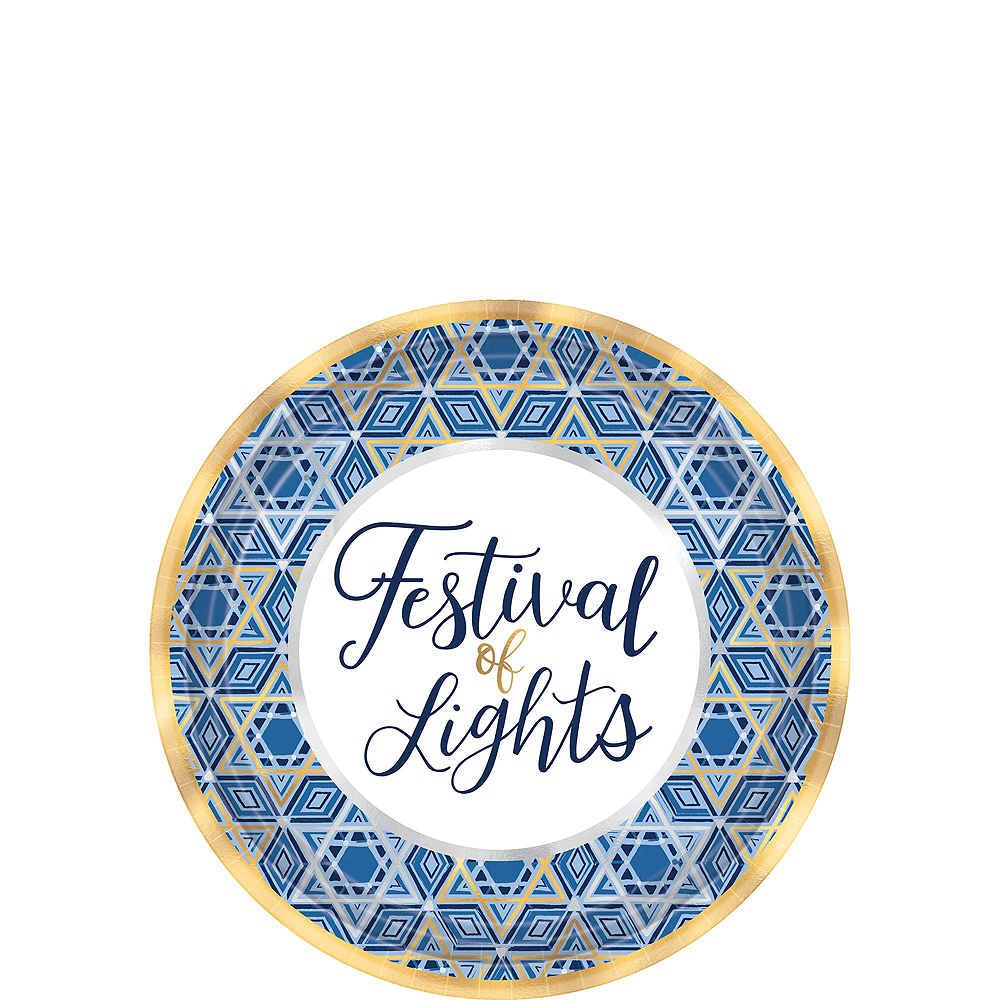 Festival Of Lights Hanukkah Tableware Kit for 18 Guests Image #2