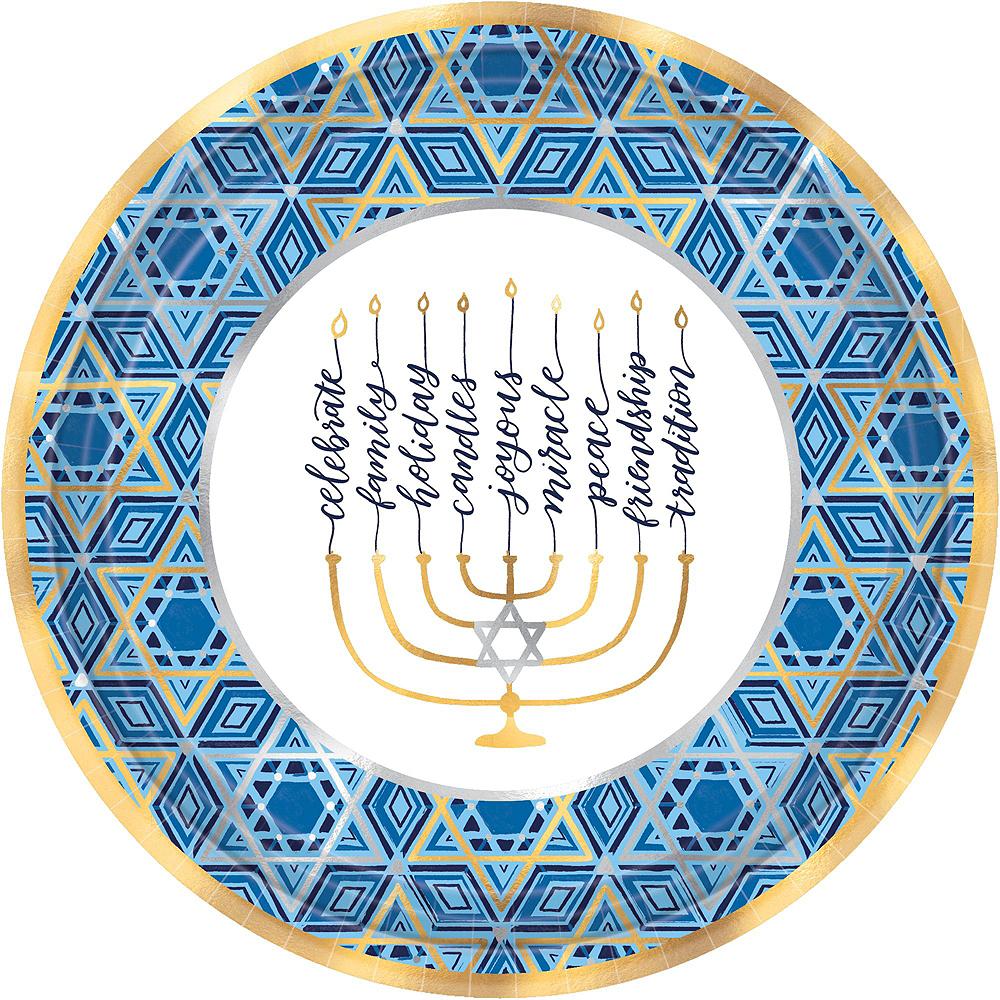 Festival Of Lights Hanukkah Tableware Kit for 18 Guests Image #3