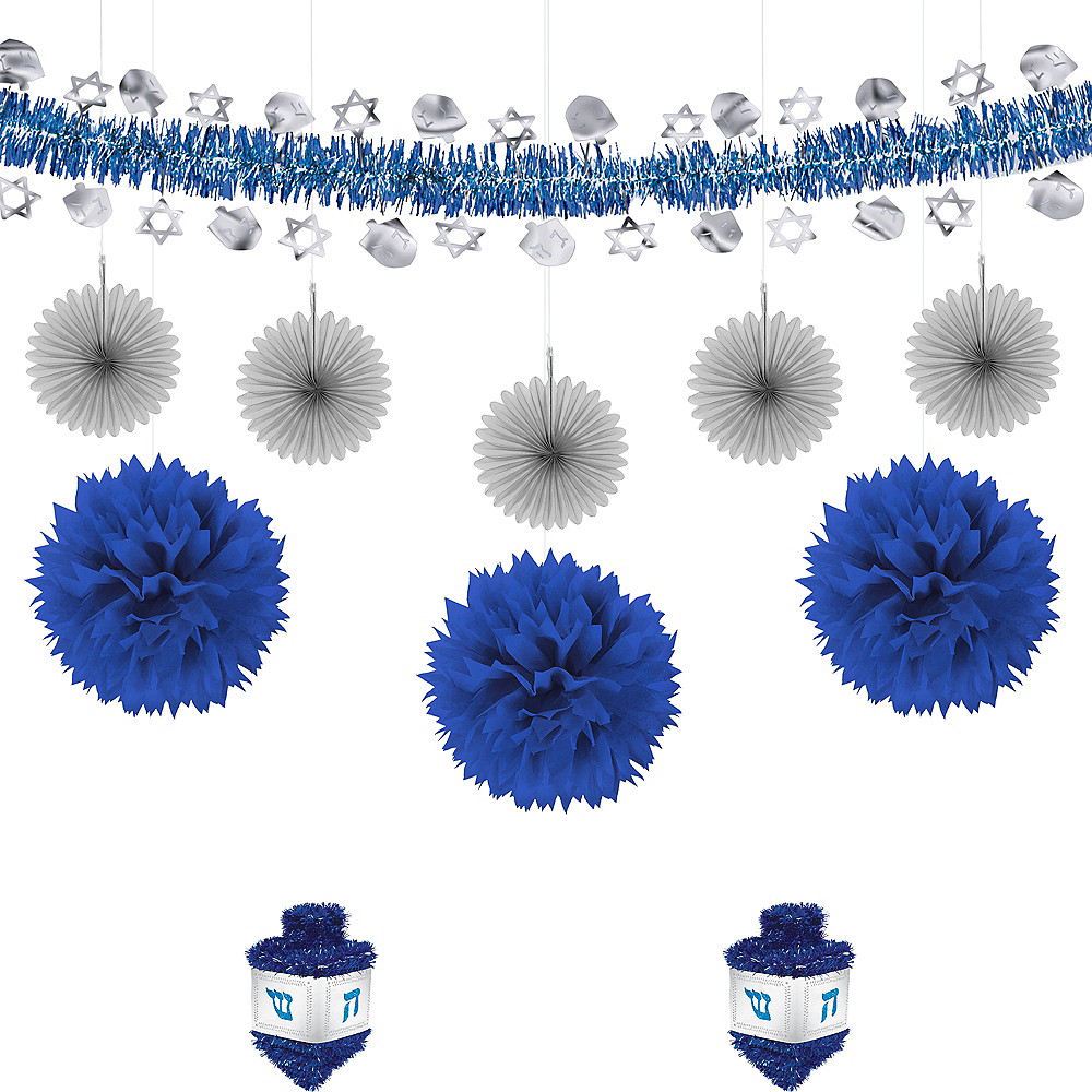 Blue & Silver Dreidel Decorating Kit Image #1