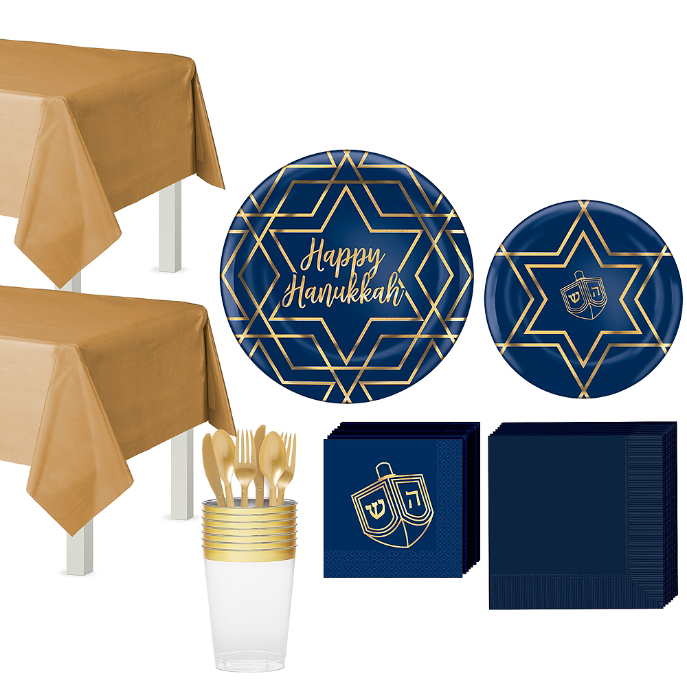Hanukkah Celebration Tableware Kit for 20 Guests Image #1
