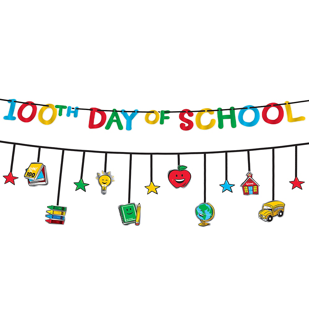 100 Days of School Multicolor Banners 2pc Image #1