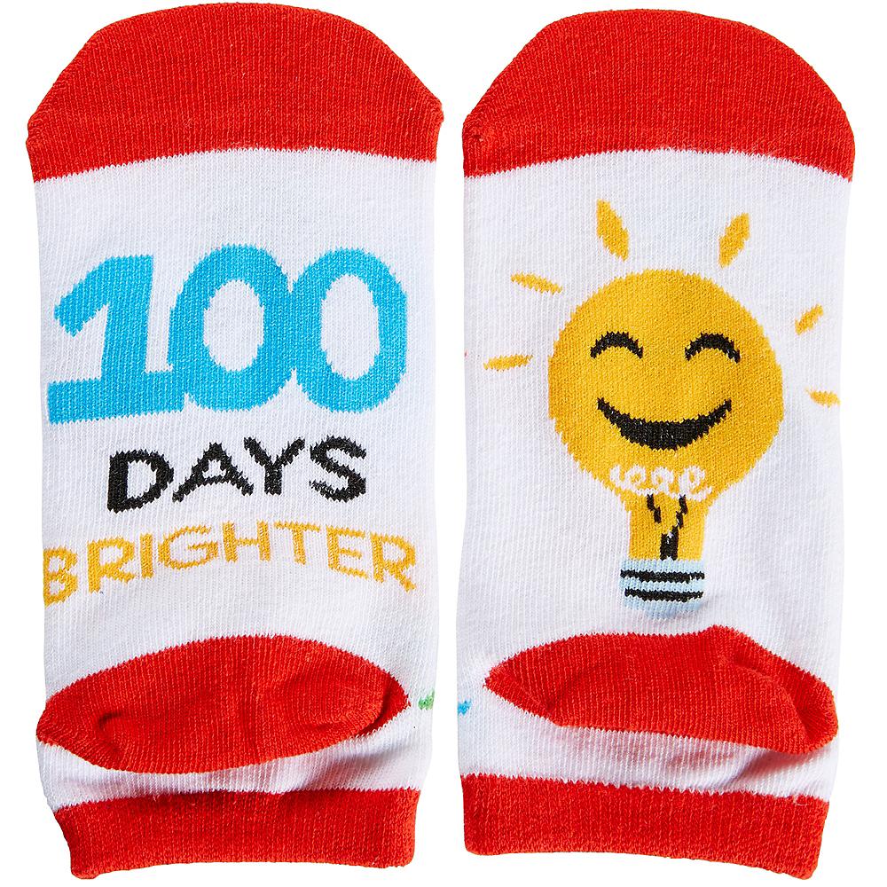 Child 100 Days Brighter Ankle Socks - 100 Days of School Image #1