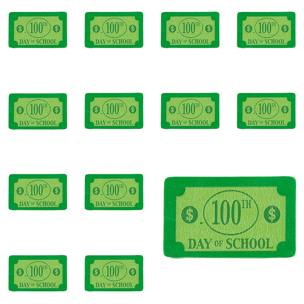 100 Days of School Dollar Bill Erasers 100ct Image #1