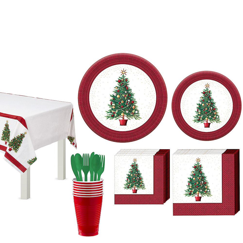 Oh Christmas Tree Tableware Kit for 50 Guests Image #1