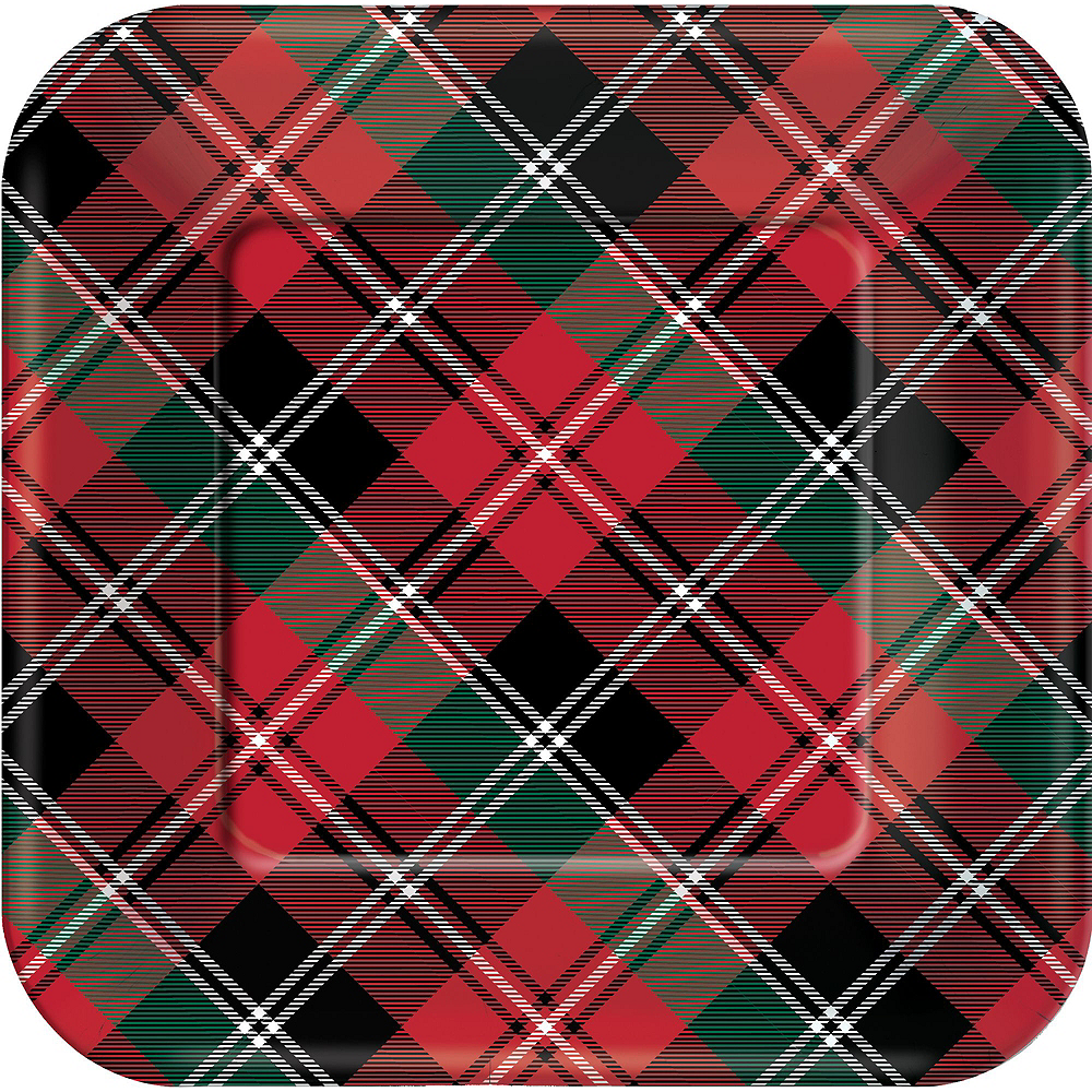 Holiday Plaid Tableware Kit for 40 Guests Image #3