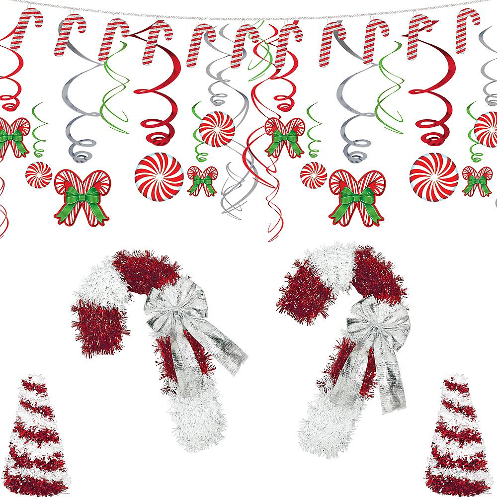 Candy Cane Tinsel Christmas Decorating Kit Image #1