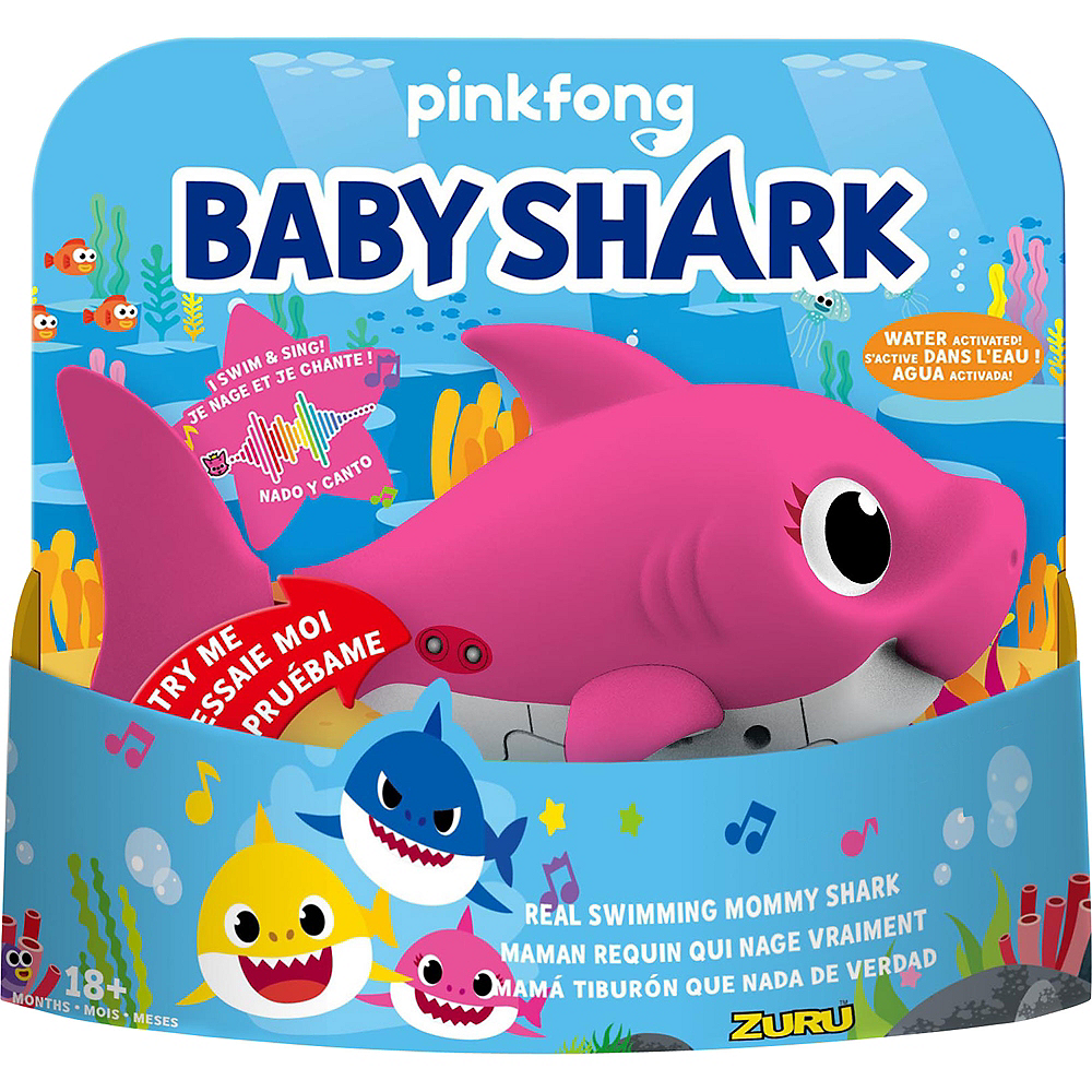 Animated Pink Mommy Shark Image #1